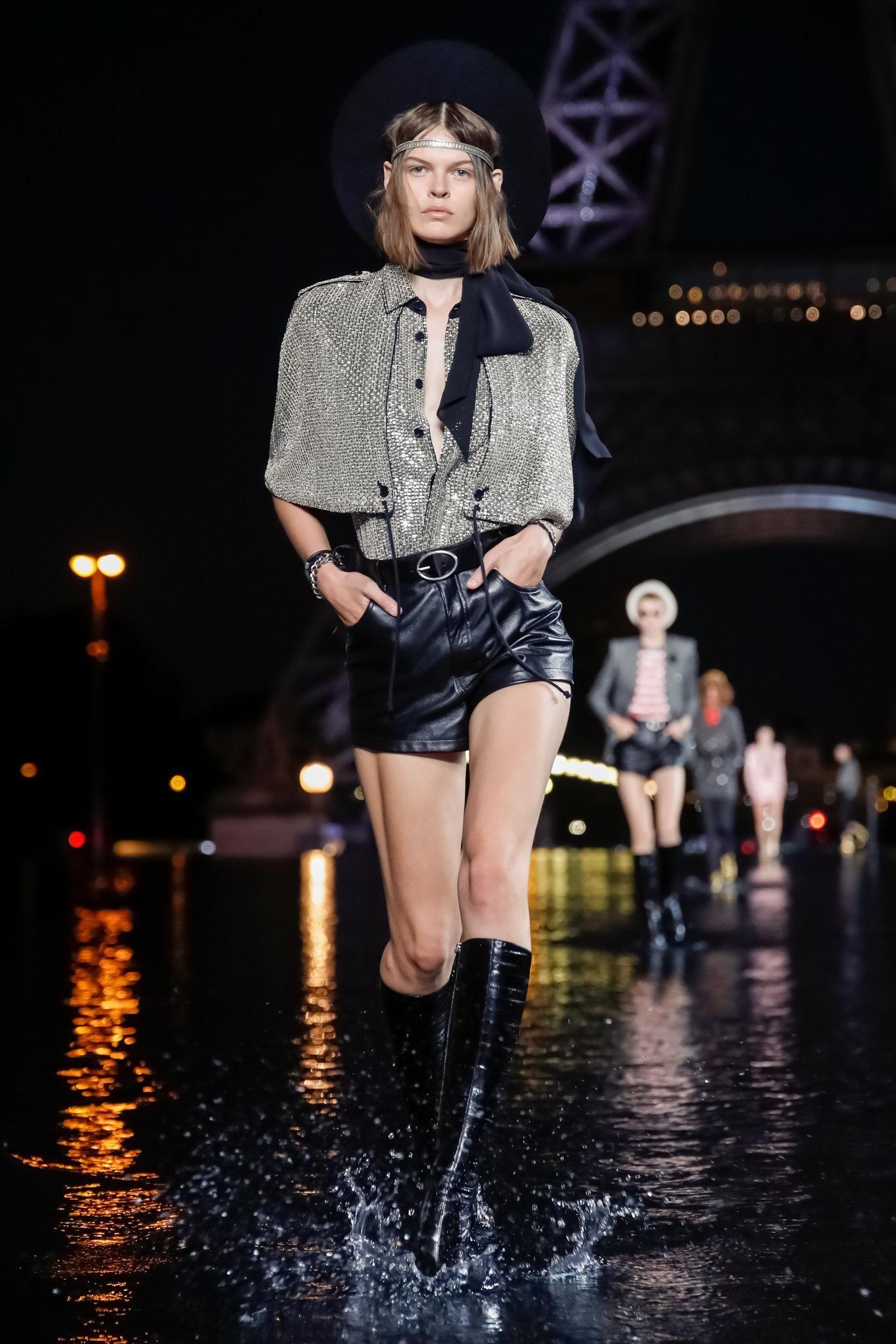 56c095353d3 Saint Laurent Spring 2019 RTW Collection - Paris Fashion Week ...