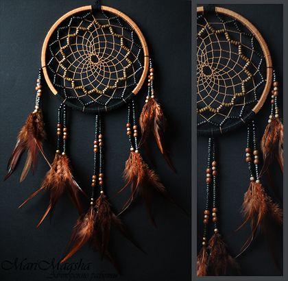 """Ловец снов """"Хранитель традиций"""" - ловец снов,коричневый,ловец сновидений"""