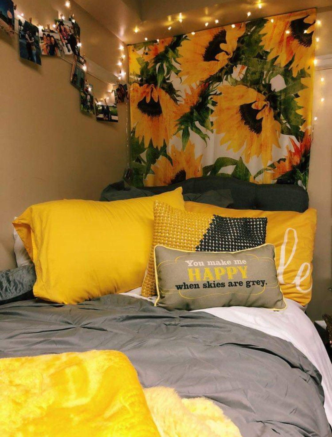Yellow Room Home Inspo Aesthetic Cute Dorm Room Inspiration Yellow Room Dorm Room Decor