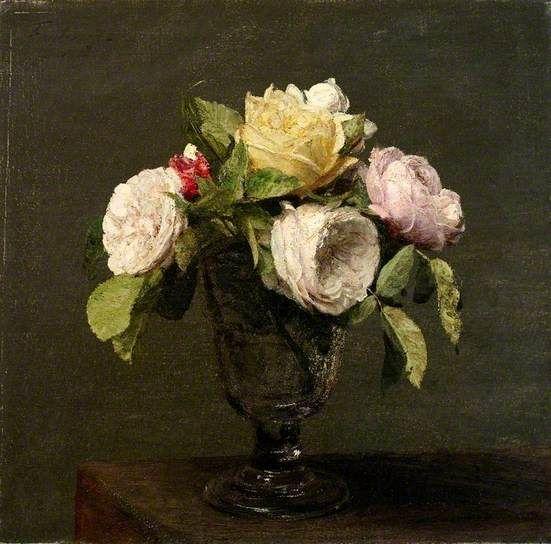 Bbc Your Paintings Roses Dans Un Verre A Pied Flower Art Flower Painting Floral Art