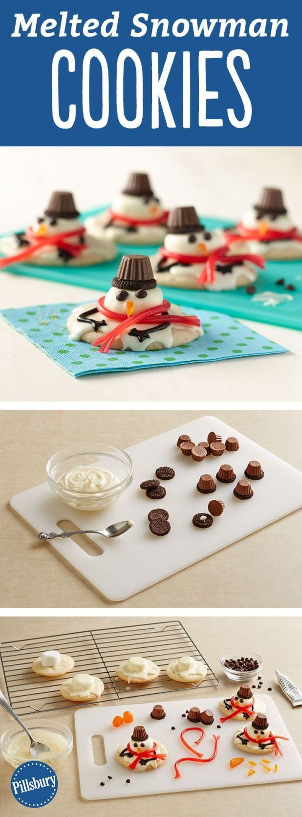 Photo of Melted Snowmen Cookies #Cookies #Melted #snowmen