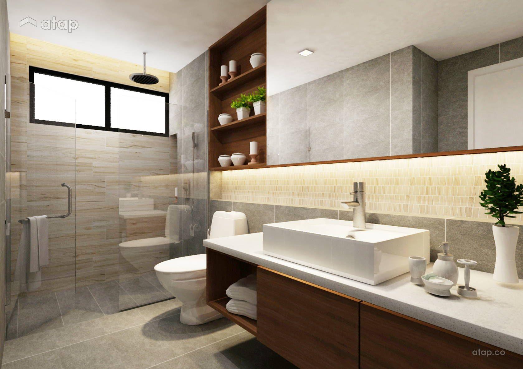 Contemporary Modern Bathroom Semi Detached Design Ideas Photos Malaysia Atap Co Modern Bathroom Design Bathroom