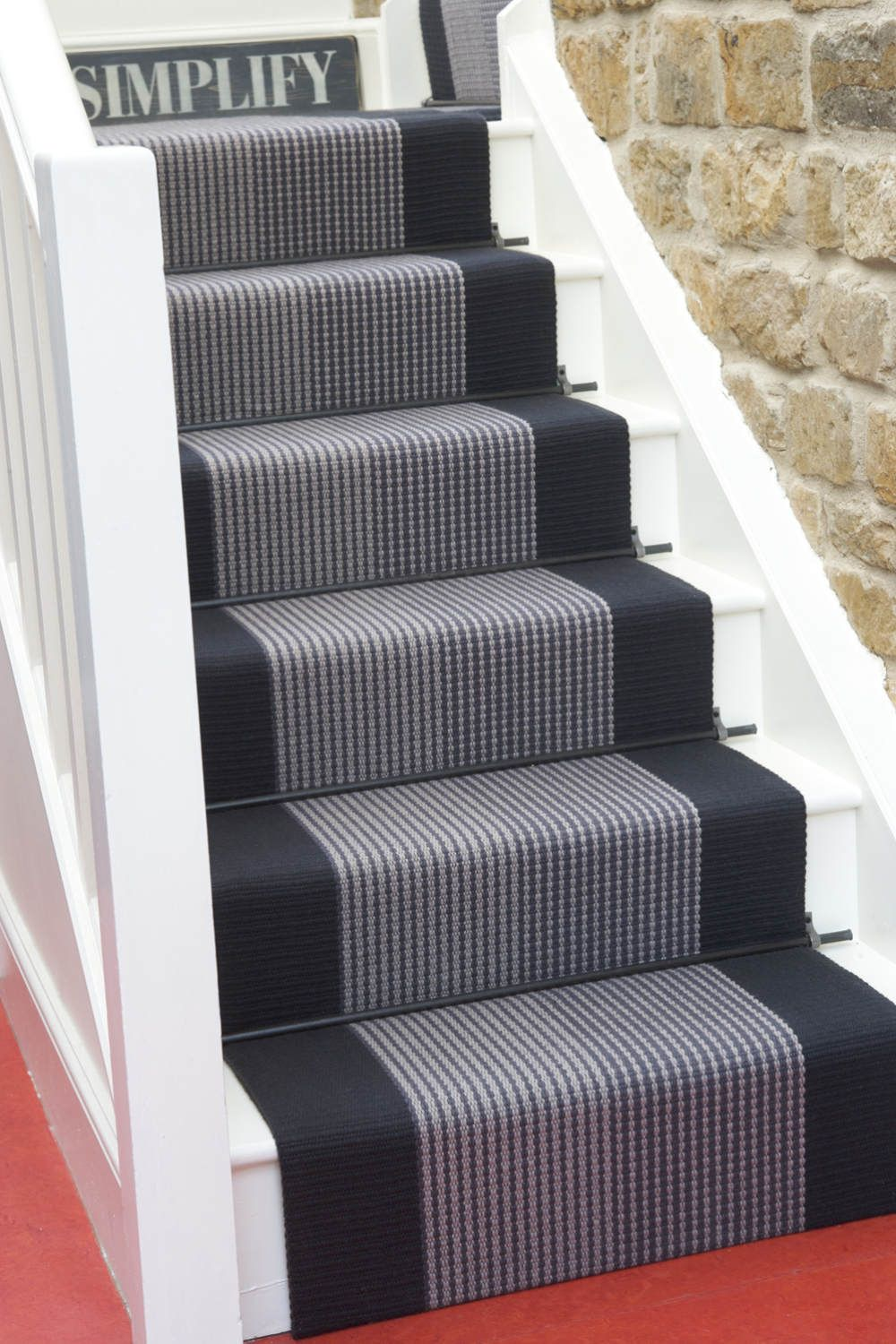 Best Troy Charcoal Stair Runner Carpet Runner Stairway Carpet 400 x 300