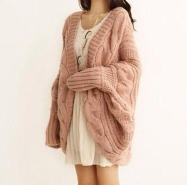 coat knitted cardigan cable knit oversized cardigan chunky ...