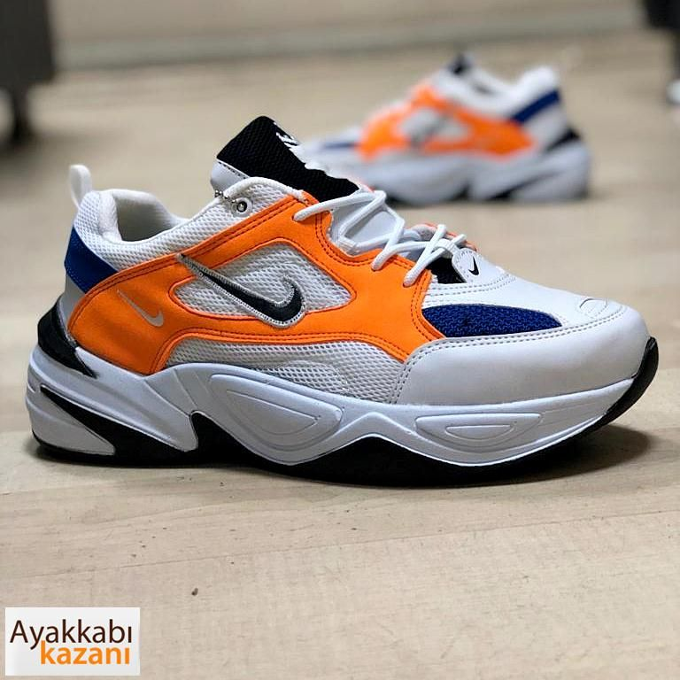 Nike M2k Tekno Erkek Spor Ayakkabi Beyaz Oranj Nike Air Max Nike Erkek Spor Ayakkabilari
