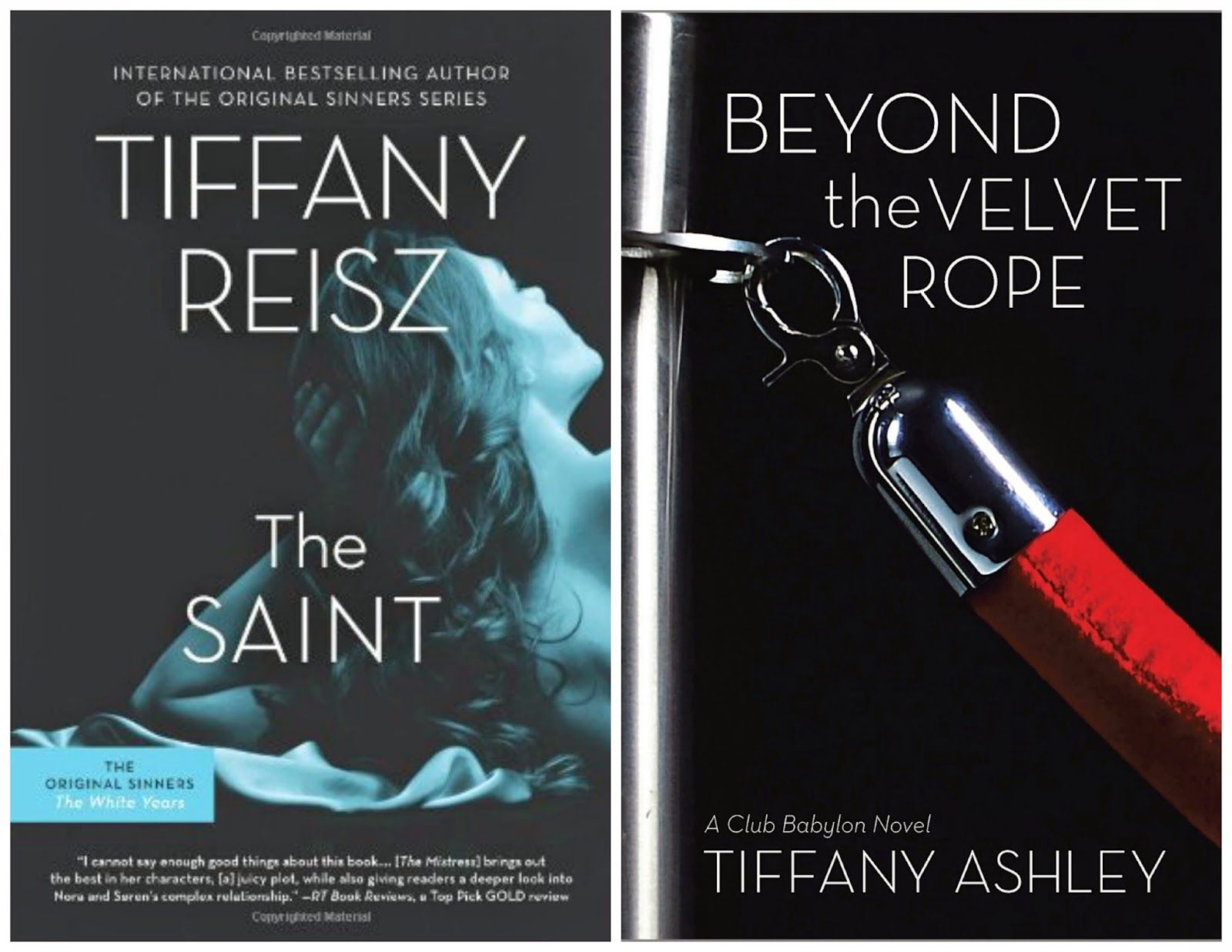 Novels On The Run: TIFFANY REISZ & TIFFANY ASHLEY - RELEASE