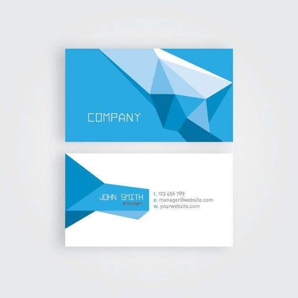 Geometric Business Card Vector Graphic Dryicons Com With Images