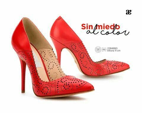 5fc36305 Hermosas zaparillas rojas Andrea   Zapatos <3   Zapatos, Zapatillas ...