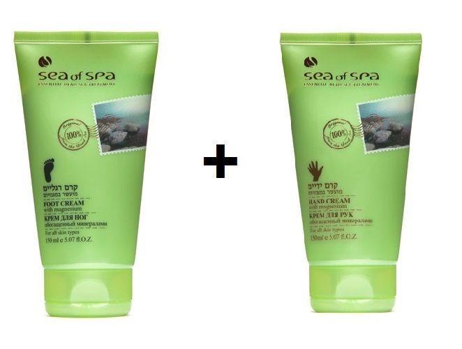 Dead Sea Hand Cream & Foot Cream  With Magnesium By Sea Of Spa 150 ml 5.07 fl.oz #SeaOfSpa