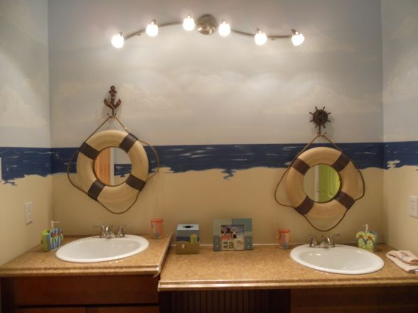 Pin By Marta Plata On Bathrooms Kids Bathroom Design Plug In Wall Sconce Lighthouse Bathroom