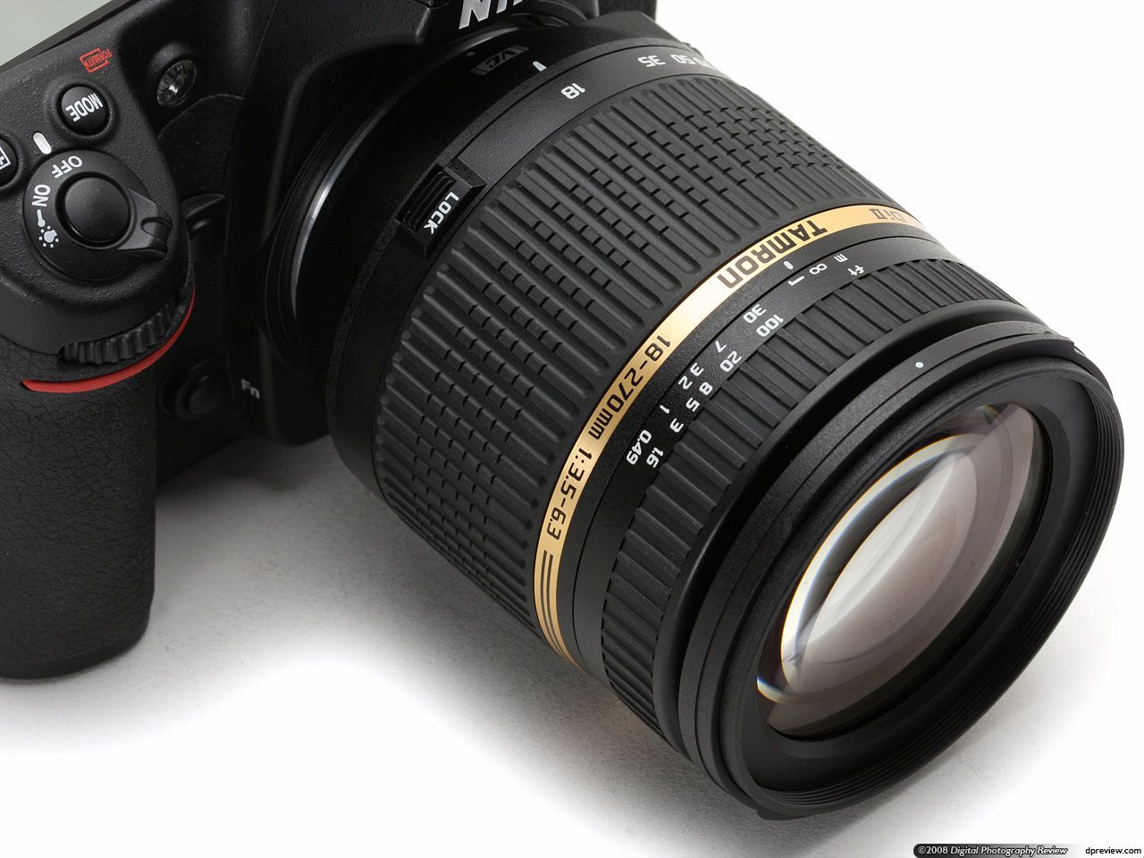 The latest design to emerge from the stable of superzoom experts Tamron, the AF 18-270mm f/3.5-6.3 Di II VC LD Aspherical (IF) MACRO was announced in July 2008. The length of the zoom range is almost as remarkable as that of the lens's name itself, with the 15x ratio covering everything from a 28mm equivalent wideangle to a 420mm equivalent telephoto. This is unprecedented in terms of SLR optics, and is clearly aimed at users upgrading from superzoom digicams who require a similar focal…