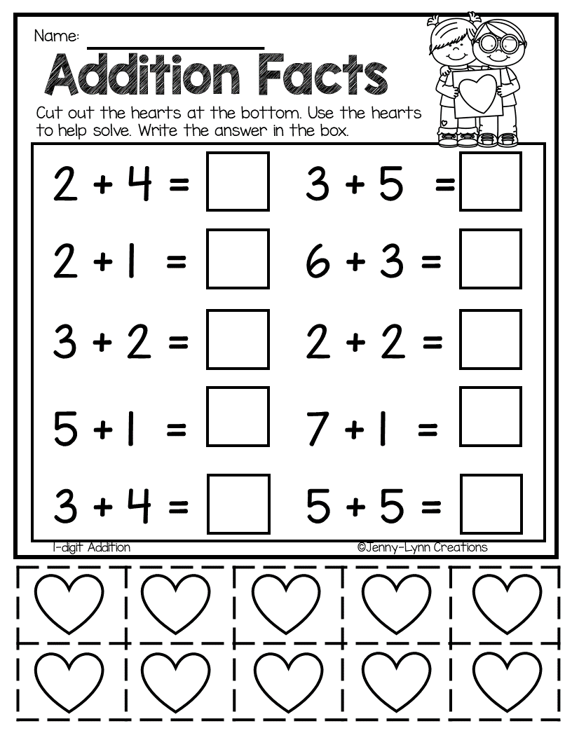Valentine Addition Subtraction No Prep Subtraction Worksheets Addition And Subtraction Worksheets Kindergarten Subtraction Worksheets