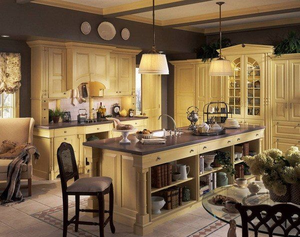 20 Magnificent French Country Kitchen Designs French style - French Country Kitchens