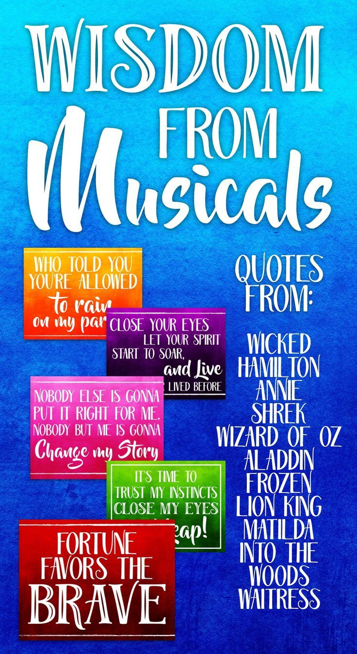 Wisdom from Musicals! Music Bulletin Board Set Wise