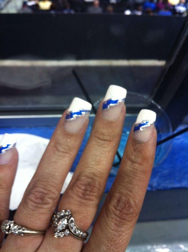 My lightning bolt nails. Tampa Bay Lightning colors for hockey ...