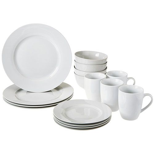 Best Dinnerware Sets For Everyday Use 4. Amazon Basics 16-Piece Dinnerware Set  sc 1 st  Pinterest : best everyday dinnerware - pezcame.com