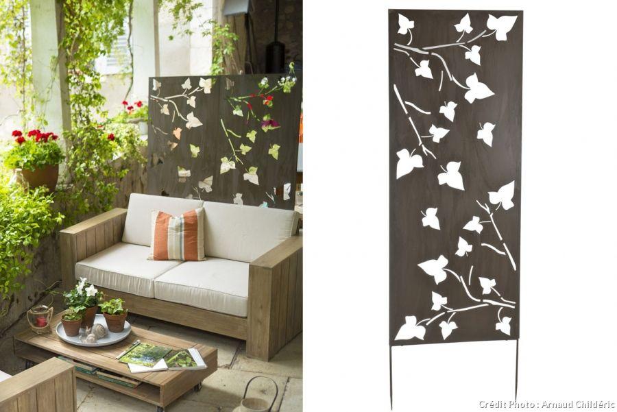 une nouvelle d co pour la terrasse avec le m tal ajour. Black Bedroom Furniture Sets. Home Design Ideas