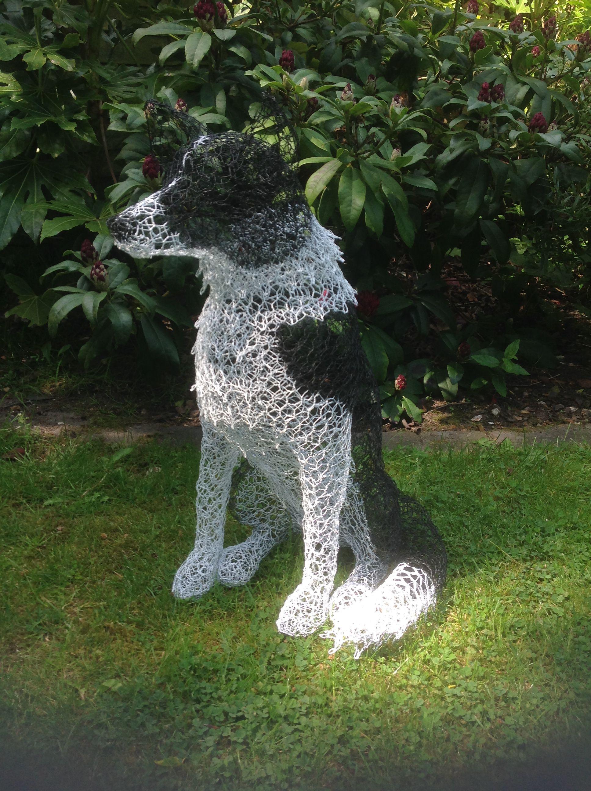 Border Collie Wire Sculpture Chicken Wire Sculpture Dog