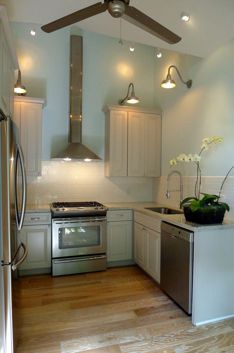 Galvanized goosenecks for contemporary kitchen lighting ...