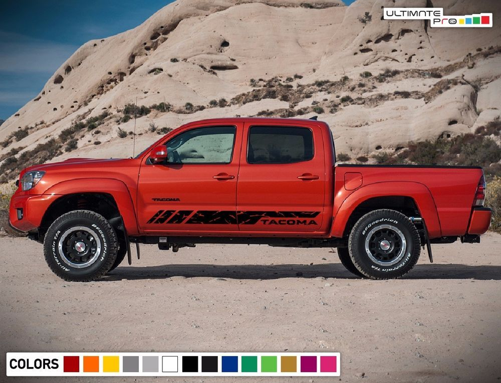 Decal Sticker Vinyl Stripe Kit For TOYOTA TACOMA 2013 2014 2015 2016 2017  Racing #ultimateprocy1ulti10deca15
