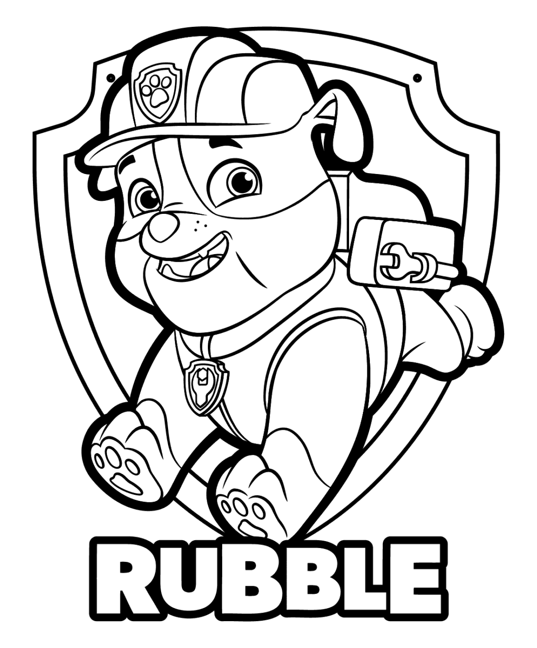 Full Size Paw Patrol Coloring Pages Printable : Halloween