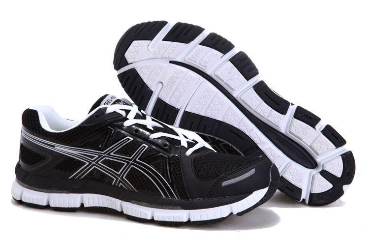 asics black running shoes men