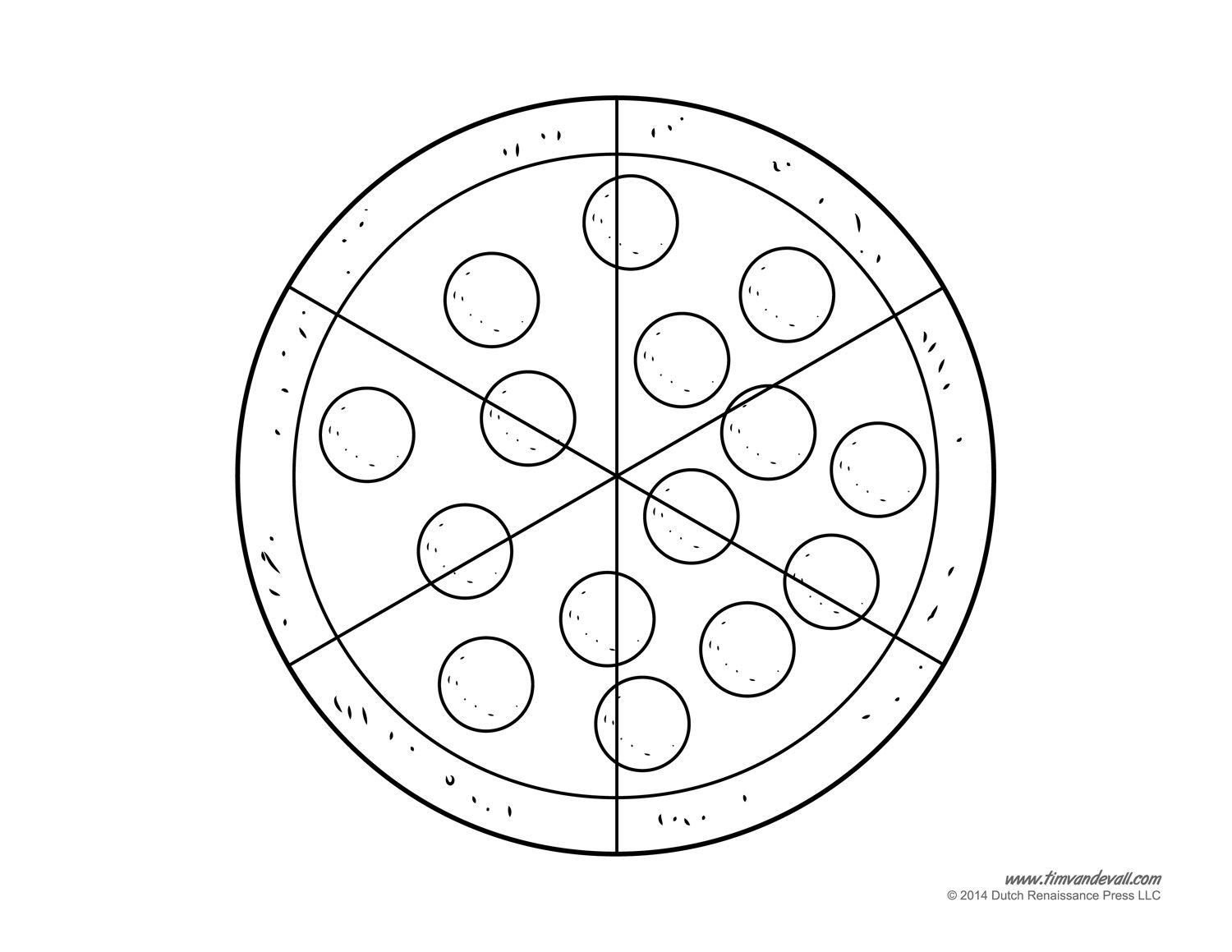 Blank Pizza Template Pizza Coloring Page Pizza Craft Coloring