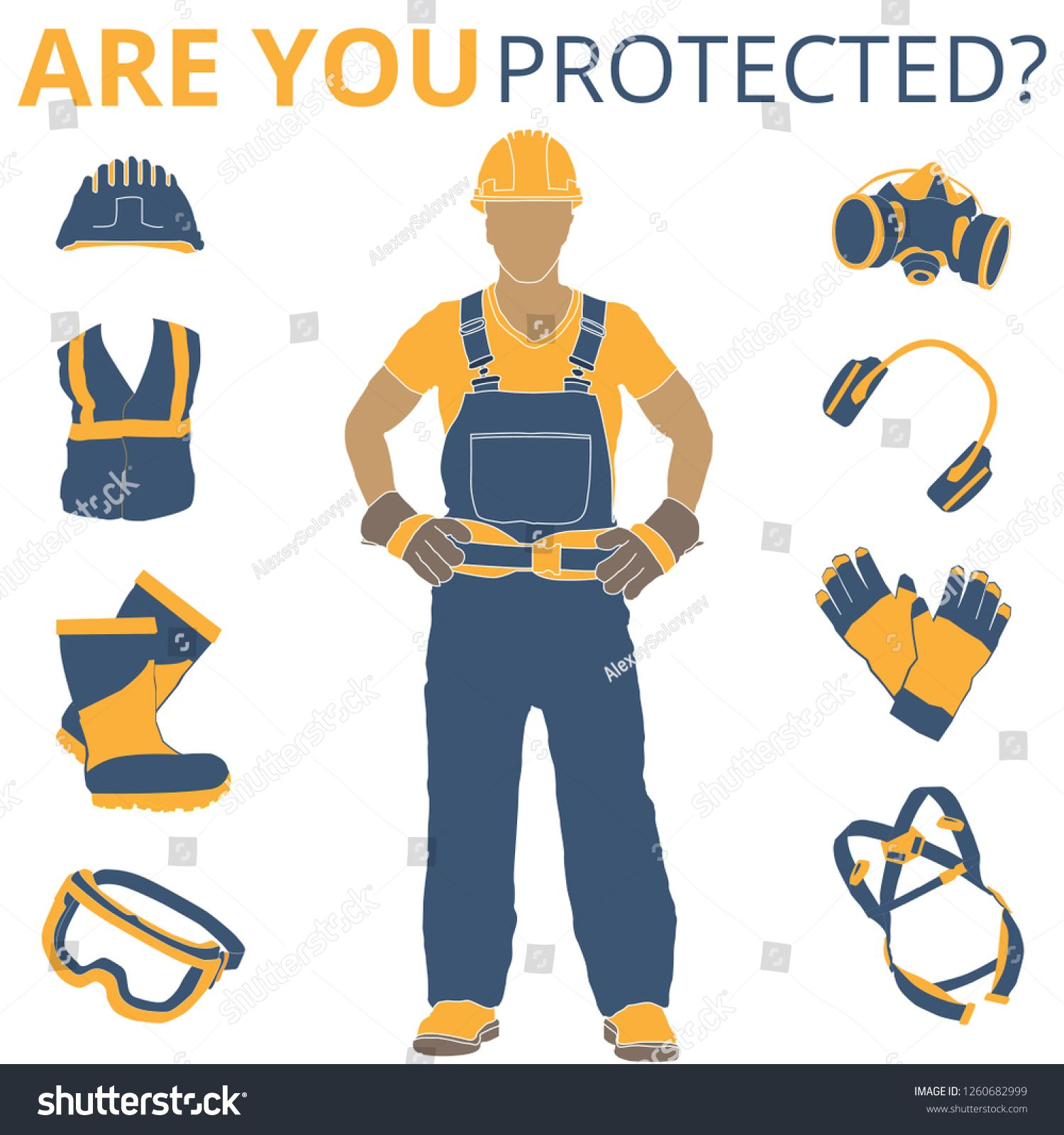 Personal Protective Equipment and Wear set. Will be use