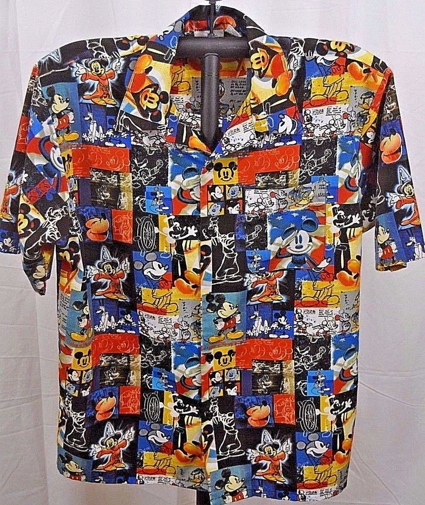 0790f605 Disneyland Resort Hawaiian Shirt Mickey Mouse/Fantasia/Donald Duck/Pluto XL  #DisneylandResort #Hawaiian