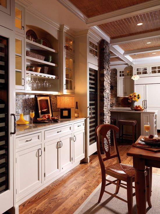 Love The Brick Arts And Crafts Kitchen Houzz Com Kitchens