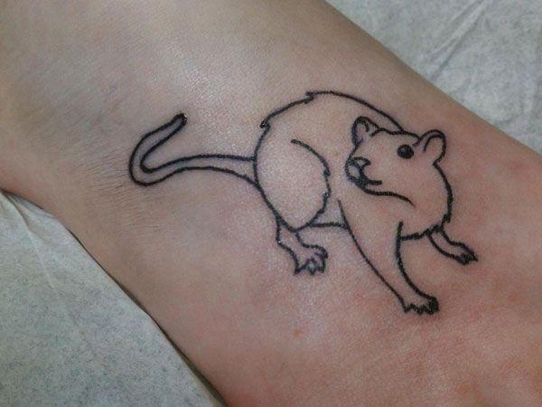 Rat Tattoo Google Search Foot Tattoos Foot Tattoos Girls Rat Tattoo
