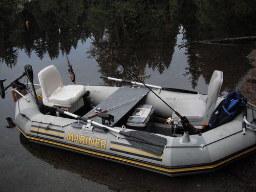 Intex 4 person mariner inflatable boat set for Wood floor intex excursion 5