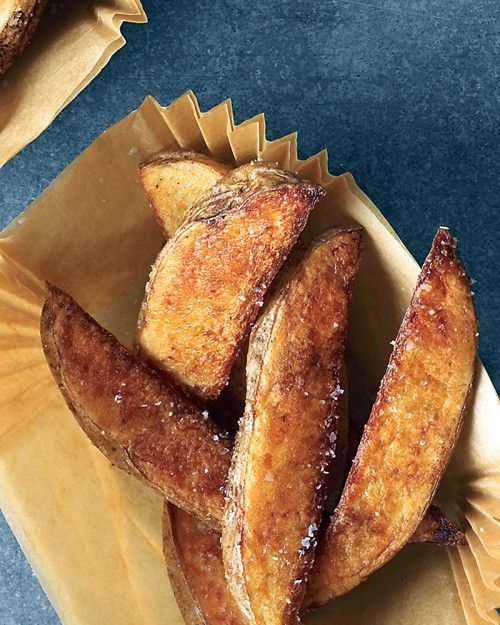 Salt-and-Pepper Oven Fries - These oven fries are just as crunchy as if they had been deep-fried.