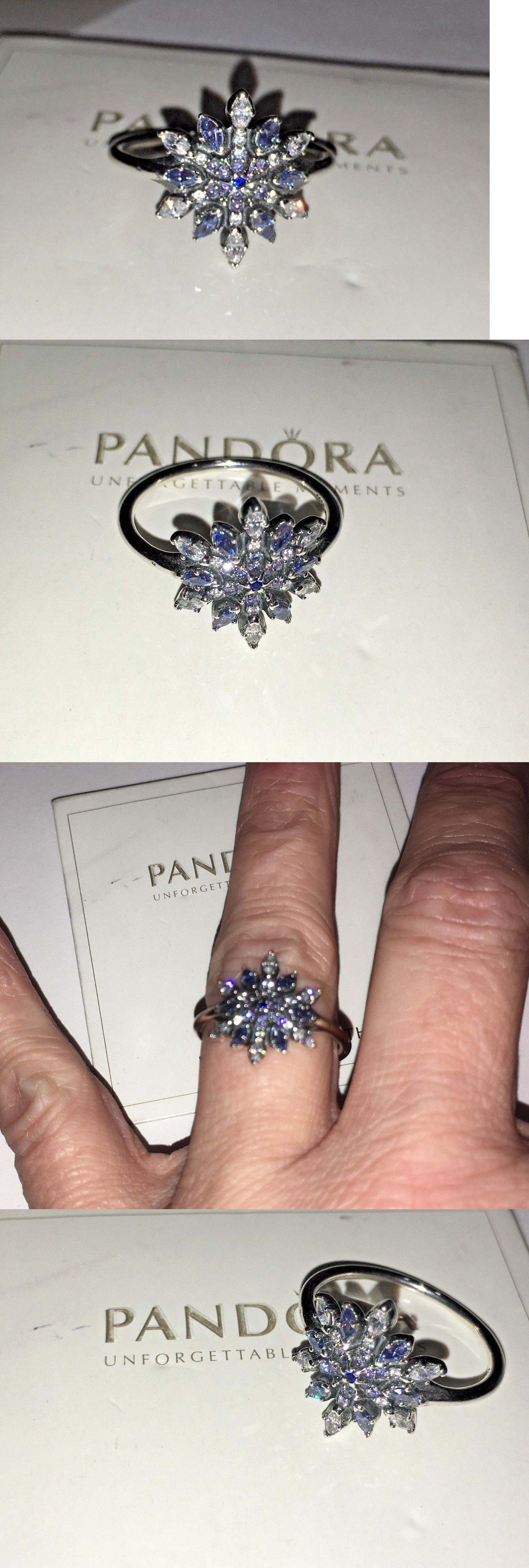 0d16e4efb Other Fine Rings 177030: New Pandora Crystallized Snowflake Ring 190969Nblmx -52 Blue Cz Sterling Size 6 -> BUY IT NOW ONLY: $56.5 on eBay!