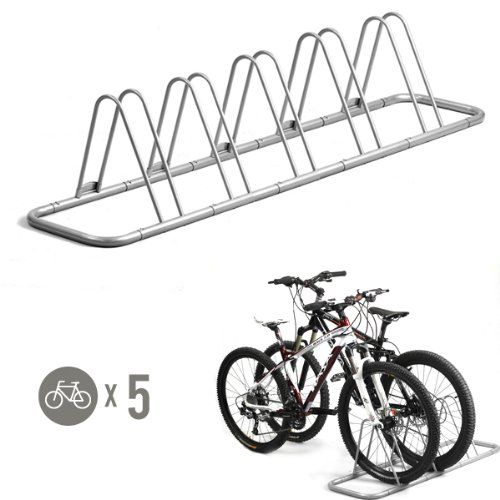 Amazon Com 5 Bike Bicycle Floor Parking Rack Storage Stand