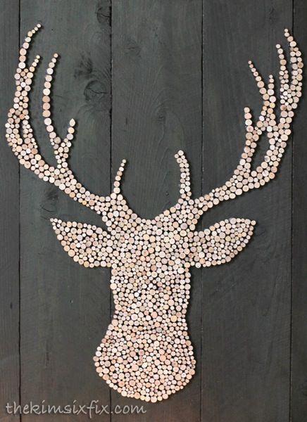 wooden-circle-deer-head.jpg | Pallet art, Deer head silhouette ...