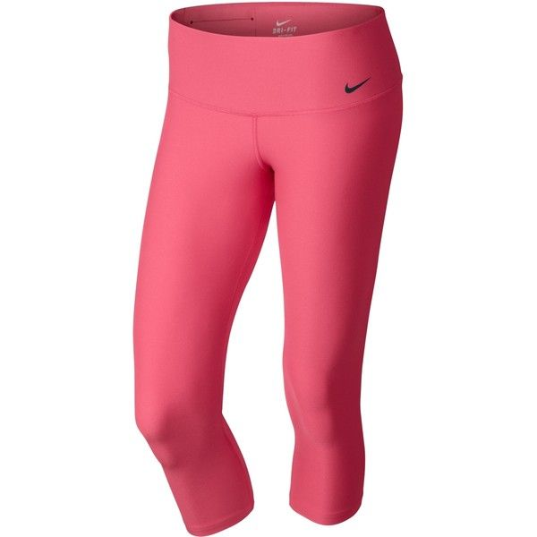 Nike Legend 2.0 Tight Low Rise Capri Tights Womens ($55) ❤ liked on Polyvore