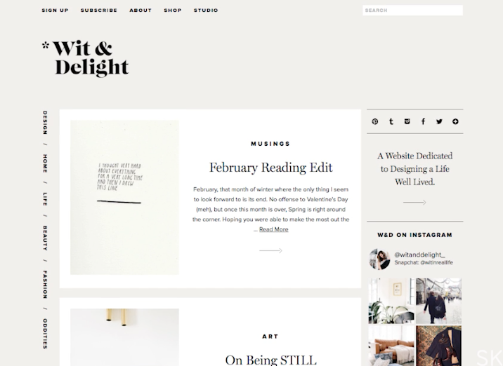 Wit Delight Blog Love How Minimal And Clean This Is Online Web Design Web Development Design Web Design Quotes