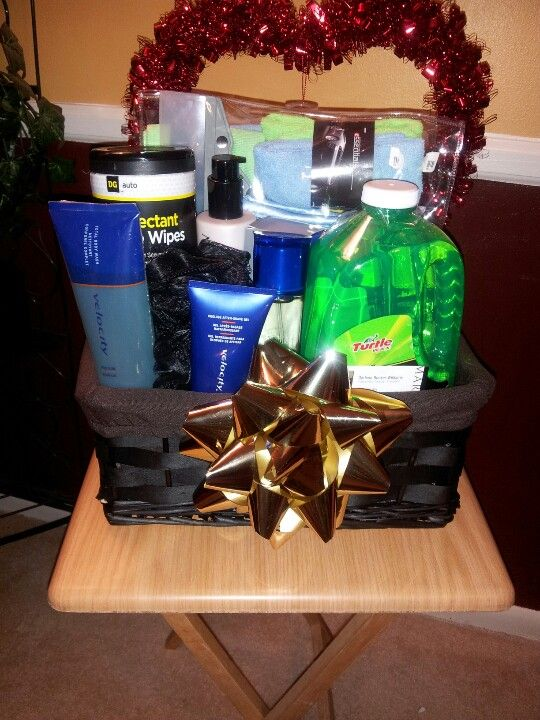 My Mens Velocity Carwash Valentines Day Basket For Men