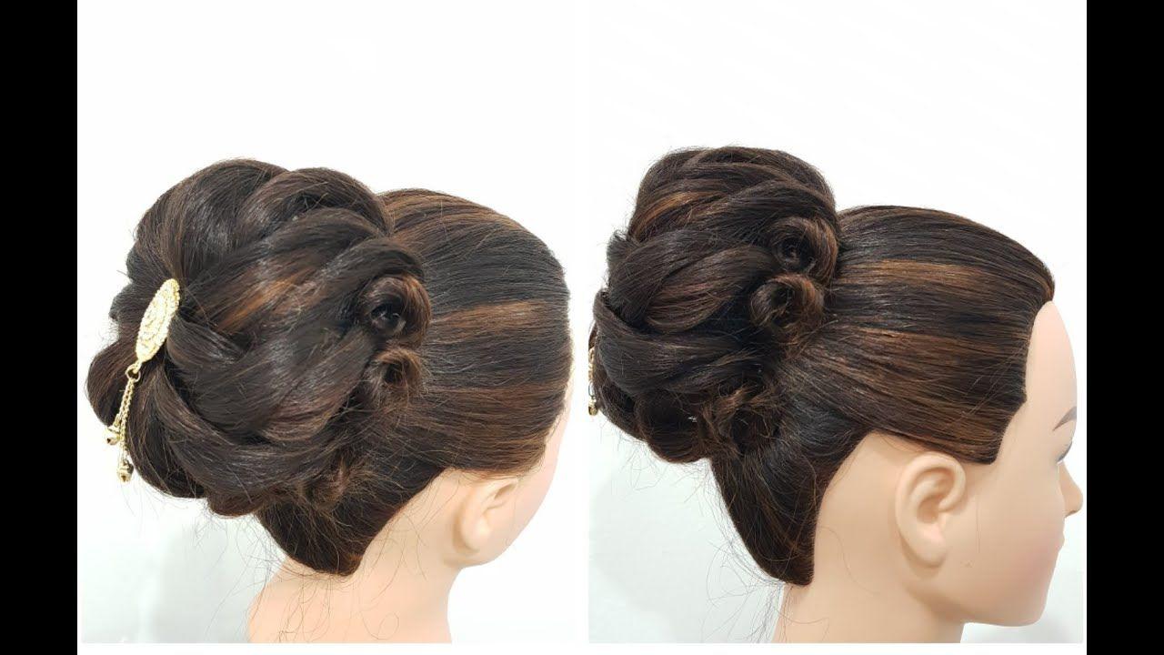 Easy Messy Bun Hairstyle Trick : Roses Bun Hairstyle : Easy Hairstyles in 2020   Messy bun ...