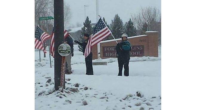 "flag1.jpg. SHERIFF DEMONSTRATING TAKE BACK AMERICA FROM THE P.C. WHINY SCHOOL ADMINISTRATORS NOT WANTING TO ""OFFEND"" ANYONE FROM OTHER COUNTRIES,,WELL HOW ABOUT OFFENDING US,AMERICANS,THAT ARE SICK AND TIRED OF BEING WORRIED WE OFFEND OTHER PEOPLE,ITS OUR DAMN COUNTRY IF YOU FEEL OFFENDED GET THE HELL OUT"