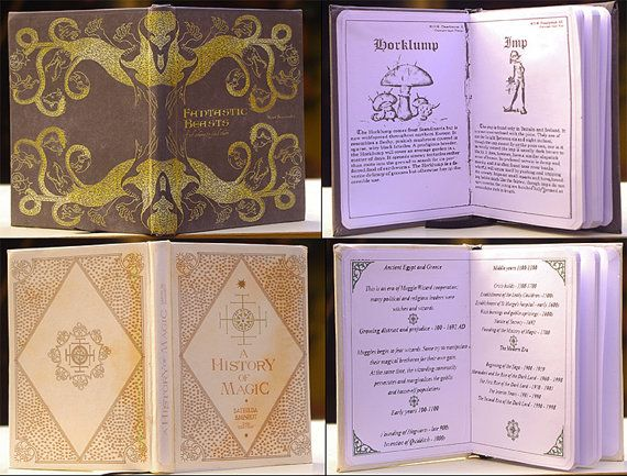 School Books Harry Potter Fanmade A6 Dimension Blank Pages Etsy Bucheinbande Harry Potter Schule Einband