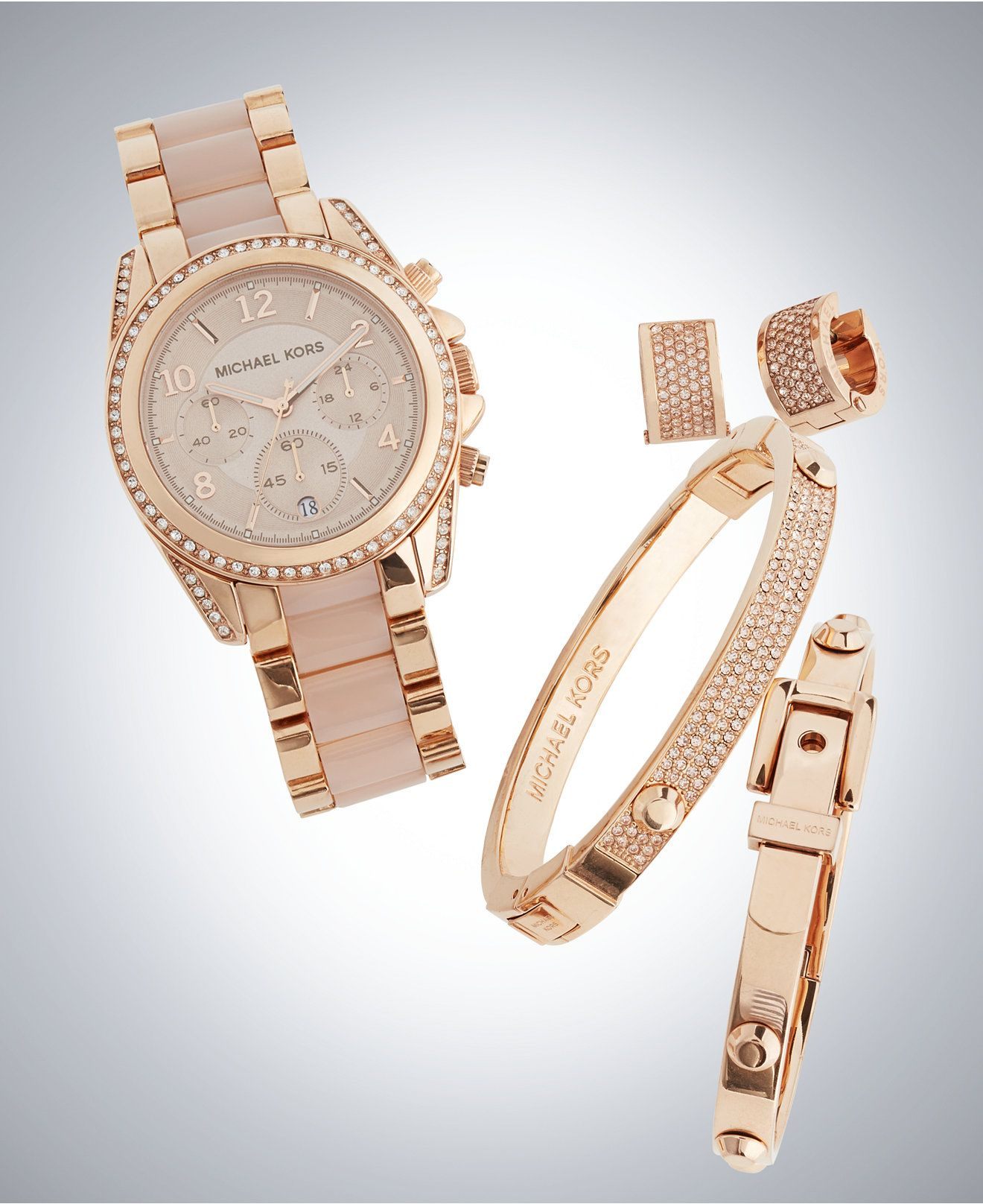 Michael Kors Pavé Crystal Accent Gift Set All Fashion