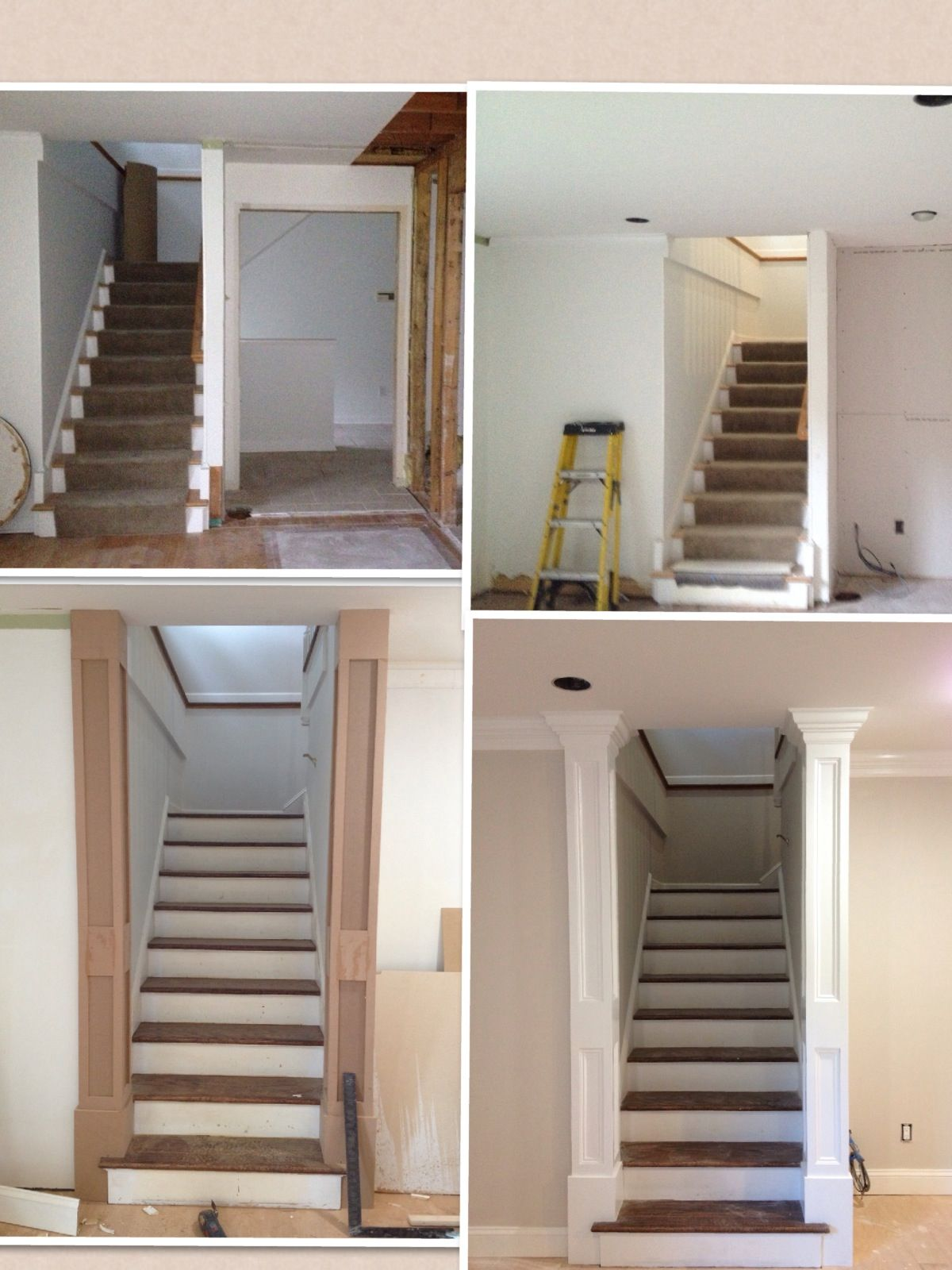 Best Columns Added To A Staircase Good For Dressing Up Stairs To Bonus Home Design Plans 400 x 300