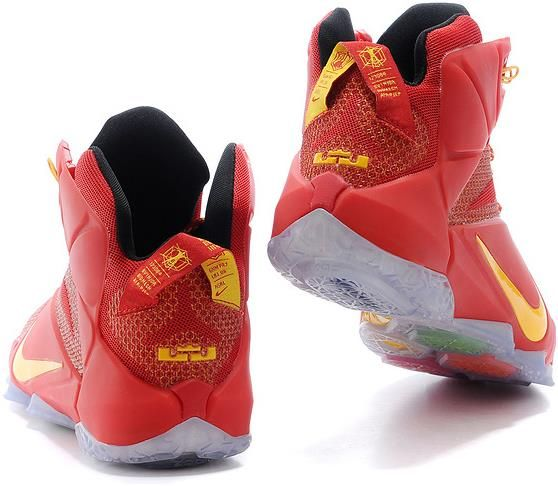 new arrivals f9438 b0917 Lebron 12 University Red Yellow1