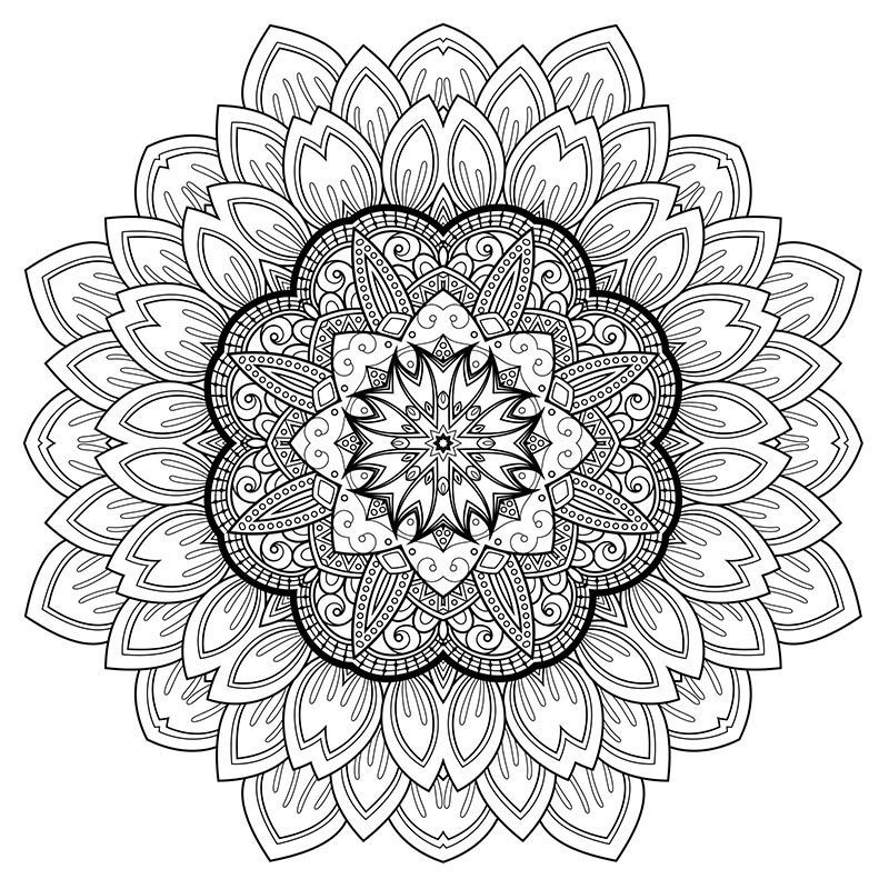 High Resolution Coloring Design For Stress Relief Free Art Therapy Coloring Book Mandala Coloring Pages Coloring Books