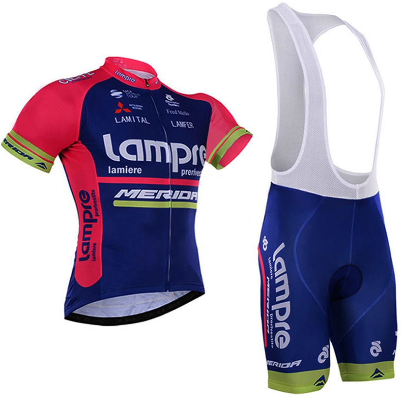 22.11$  Watch now - http://ali4rp.shopchina.info/go.php?t=32789969216 - 2016 lampre Team Pro Cycling Jersey Short Sleeve Bicycle Clothing Sportswear Cycling Clothing Unisex Breathable Quick Dry 22.11$ #SHOPPING