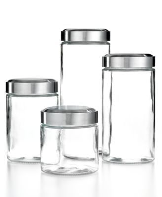 Martha Stewart Collection Glass Food Storage Canisters Set Of 4 Amusing Glass Kitchen Containers Design Inspiration