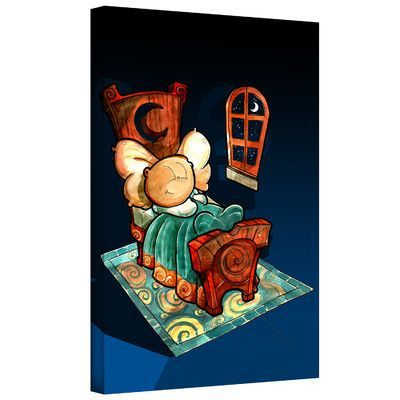 "ArtWall 'Kids in Bed 1' by Luis Peres Graphic Art on Wrapped Canvas Size: 24"" H x 18"" W"
