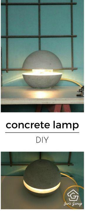 betonlampe diy betonlampe selber machen gure pinterest basteln lampen selber machen und. Black Bedroom Furniture Sets. Home Design Ideas